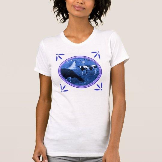 Camiseta de la Delft-Azul-Teja-Mirada del molino