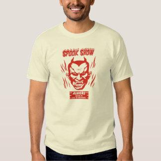 Camiseta de la demostración del espectro del poleras