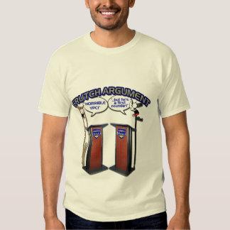 Camiseta de la discusión de la muleta playera