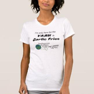 Camiseta de la echada de n de la puntada de las fr