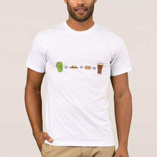 Camiseta de la ecuación de la cerveza