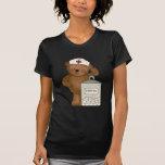 Camiseta de la enfermera del oso de peluche