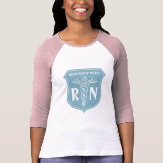 Camiseta de la enfermera del RN con símbolo del