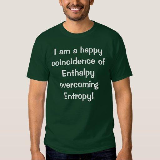 Camiseta de la entalpía remeras