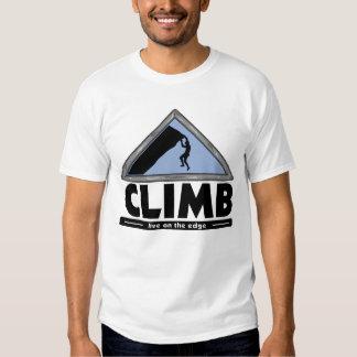 Camiseta de la escalada camisas