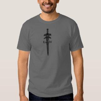 camiseta de la espada del caballero remera