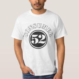 Camiseta de la esperanza de vida del consumidor 52