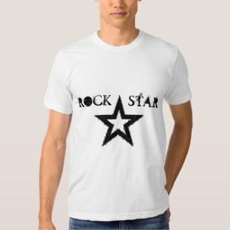 Camiseta de la estrella del rock playeras