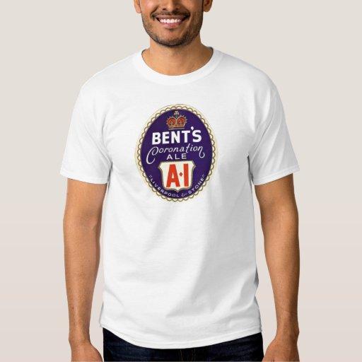 Camiseta de la etiqueta de la cerveza del vintage playeras