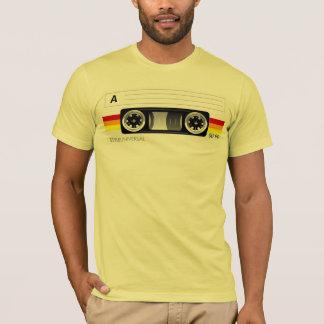 Camiseta de la etiqueta de la cinta de casete