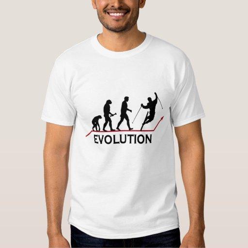 Camiseta de la evolución del esquí playeras