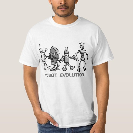 camiseta de la evolución del robot mono