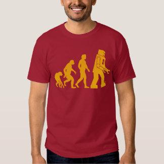 Camiseta de la evolución del robot playera