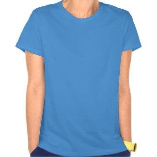 Camiseta de la explosión del azul del chica de Car