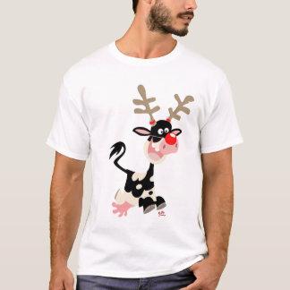 Camiseta de la falsificación del reno del navidad