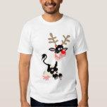 Camiseta de la falsificación del reno del navidad remera