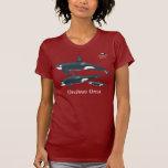 Camiseta de la familia de la orca con nombre