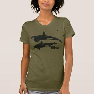 Camiseta de la familia de la orca