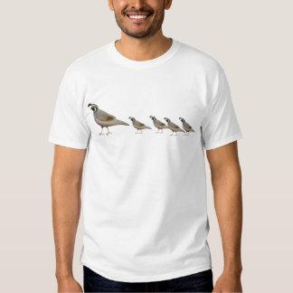 Camiseta de la familia de las codornices playeras