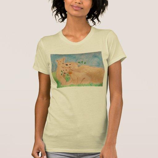 camiseta de la familia del grisáceo