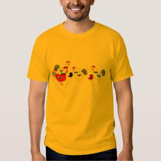Camiseta de la familia del pollo remeras