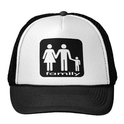 Camiseta de la familia gorras de camionero