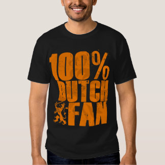 Camiseta de la fan del holandés del 100% playeras