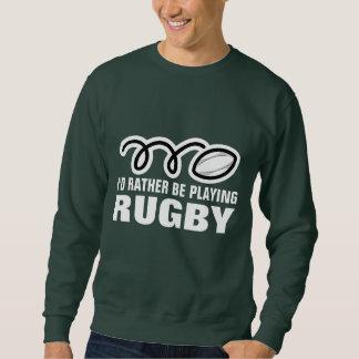 Camiseta de la fan del rugbi con lema divertido de sudadera