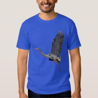 Camiseta de la fauna de la GARZA de GRAN AZUL Camisas