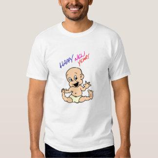 Camiseta de la Feliz Año Nuevo Playera