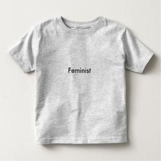 Camiseta de la feminista del niño playeras