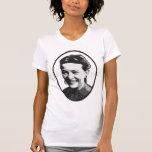 Camiseta de la feminista del retrato de Simone de Polera