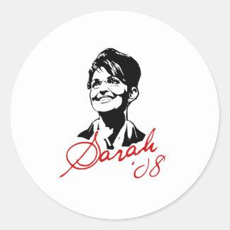 Camiseta de la firma de Sarah Palin Pegatina Redonda