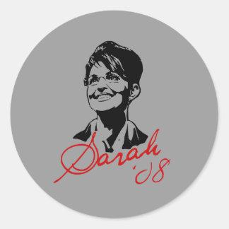 Camiseta de la firma de Sarah Palin Etiqueta Redonda