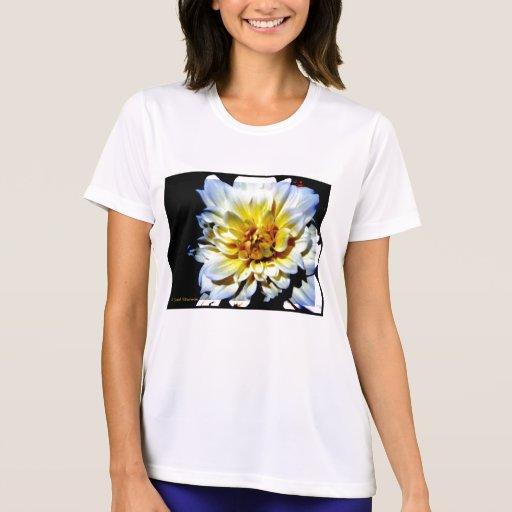 camiseta de la flor blanca