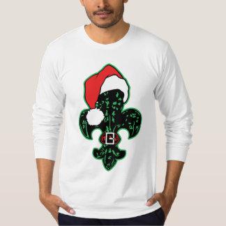 Camiseta de la flor de lis de Santa (2)