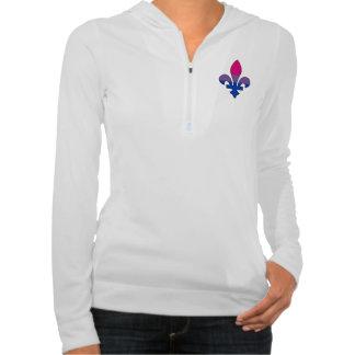 Camiseta de la flor de lis del orgullo del Bisexua