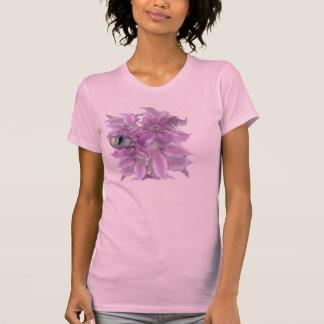 Camiseta de la flor de los dematis del ojo de gato