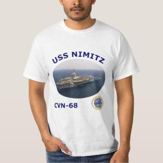 Camiseta de la foto de CVN 68 USS Nimitz Playeras