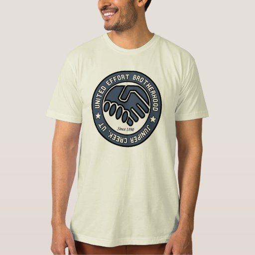 Camiseta de la fraternidad de esfuerzo unido poleras