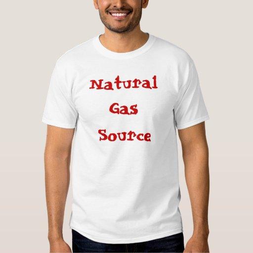 Camiseta de la fuente del gas natural remeras