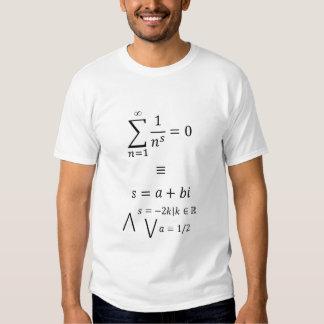 Camiseta de la función de zeta de Riemann Playeras
