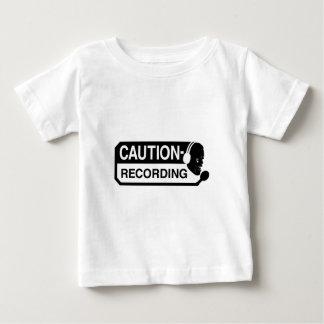 Camiseta de la grabación playera