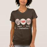 Camiseta de la graduación del amor de la paz 09