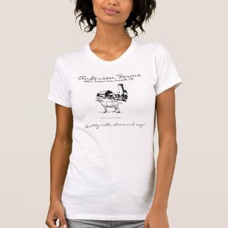 Camiseta de la granja de la cabra polera