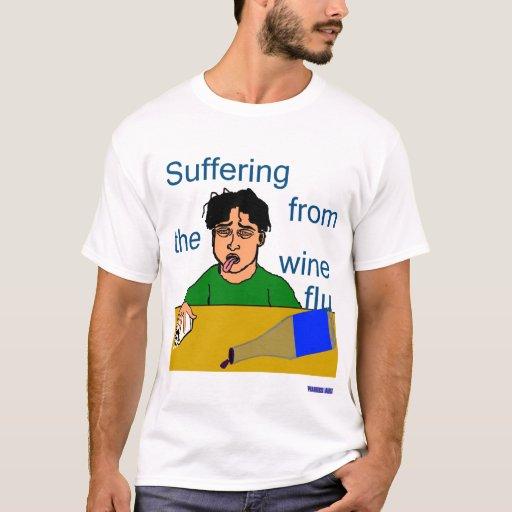 Camiseta de la gripe del vino