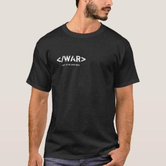 Camiseta de la guerra del final del HTML