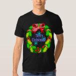 Camiseta de la guirnalda del navidad polera
