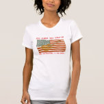 Camiseta de la guitarra de la bandera americana