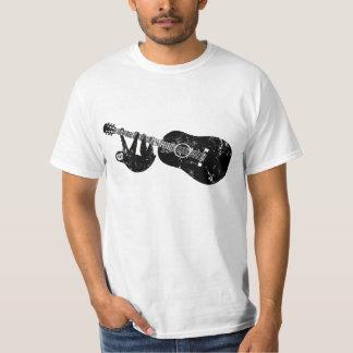 Camiseta de la guitarra de la pereza del vintage remeras